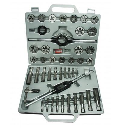 Juego de herramientas para roscar o filetear, 45 piezas