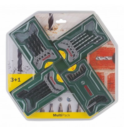 Set 3+1 Brocas y puntas Mini X-Line Bosch