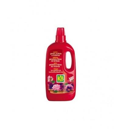 Fertilizante líquido flores y geranios 1 litro KB