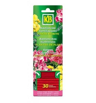 Bastoncitos nutritivos plantas de flor, 30 uds KB