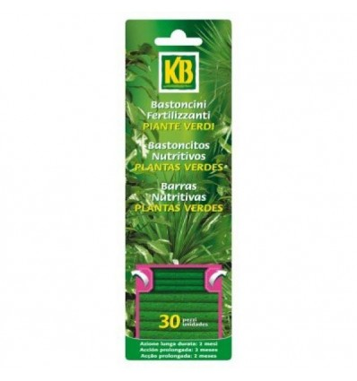 Bastoncitos nutritivos plantas verdes, 30 uds KB