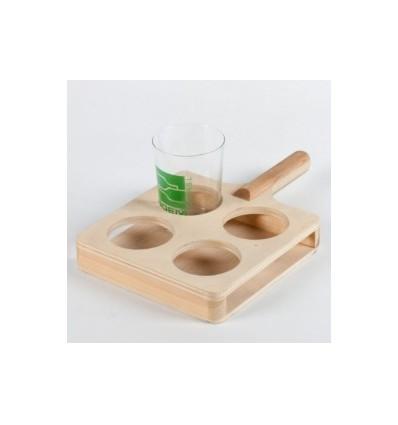 Raqueta para vasos de sidra