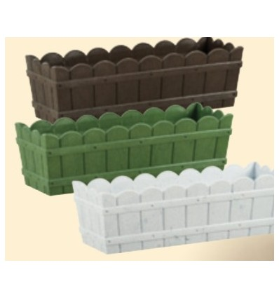 Jardinera de plástico
