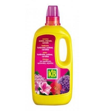 Fertilizante líquido hortensias, azaleas y camelias 1L. KB